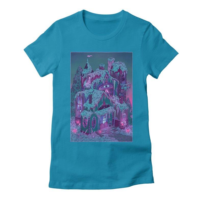 Winter House Women's Fitted T-Shirt by Valeriya Volkova