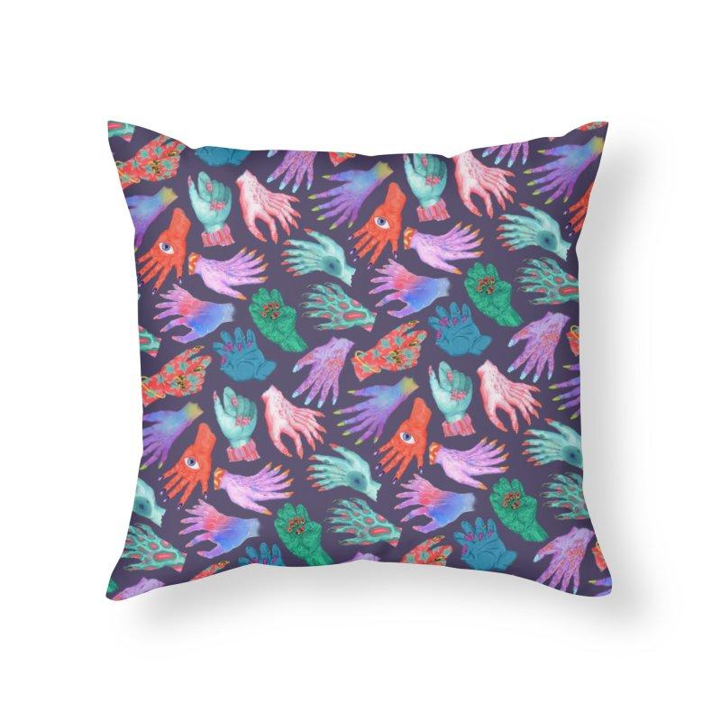Monster Manicures Home Throw Pillow by Valeriya Volkova
