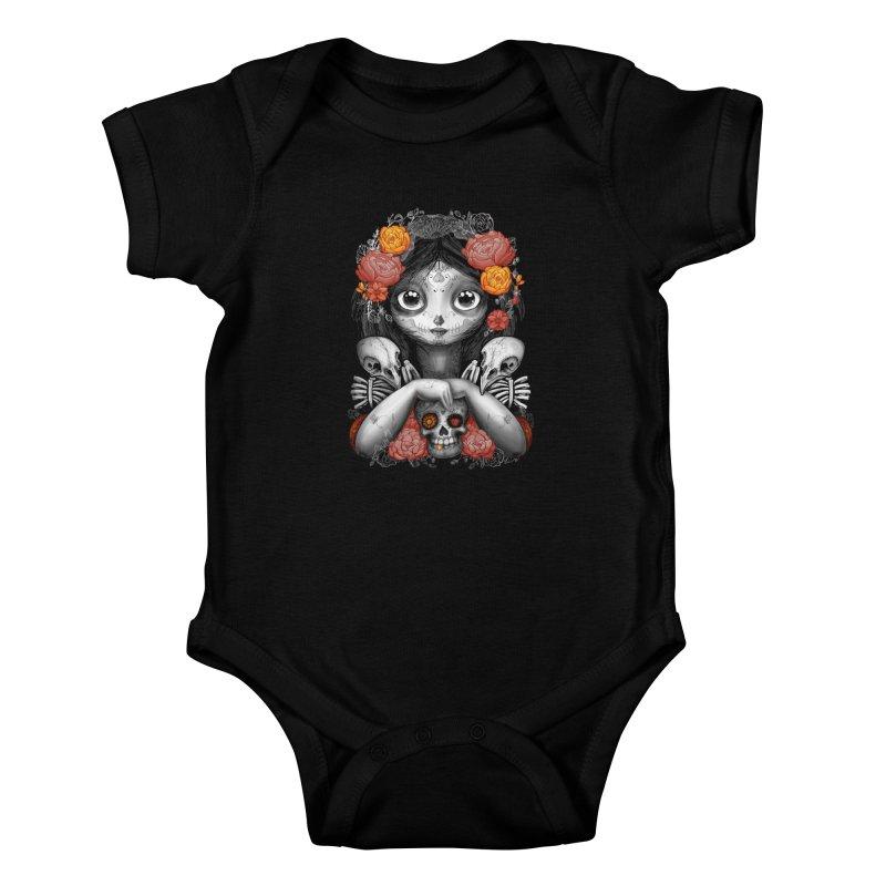 cuervos y amor Kids Baby Bodysuit by valterferrari's Artist Shop