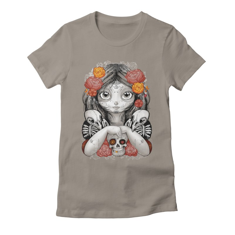 cuervos y amor Women's Fitted T-Shirt by valterferrari's Artist Shop