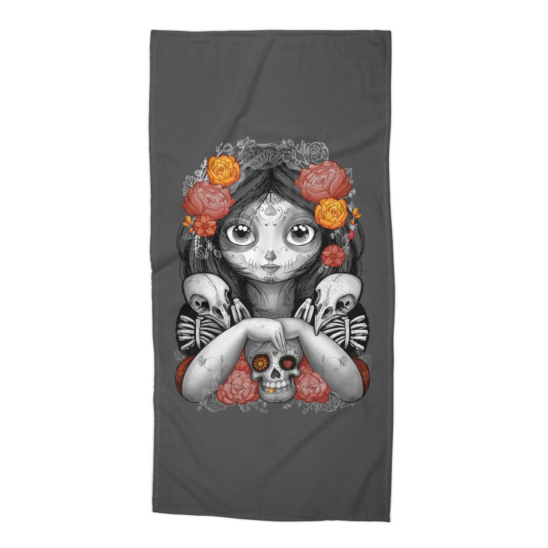 cuervos y amor Accessories Beach Towel by valterferrari's Artist Shop
