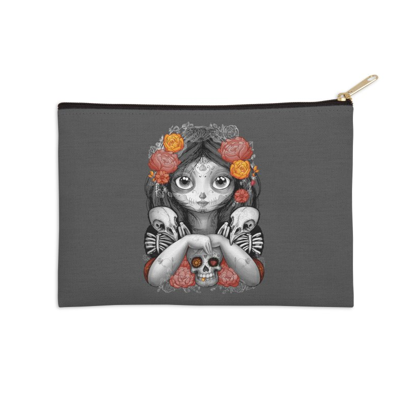 cuervos y amor Accessories Zip Pouch by valterferrari's Artist Shop