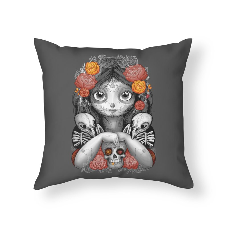 cuervos y amor Home Throw Pillow by valterferrari's Artist Shop
