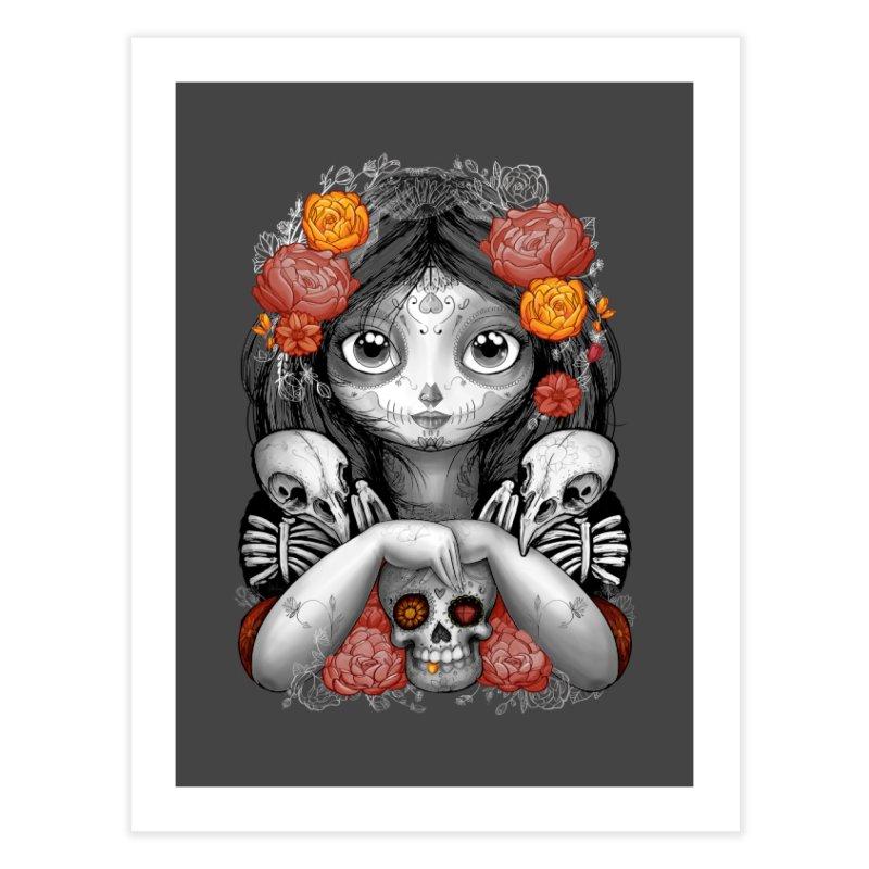 cuervos y amor Home Fine Art Print by valterferrari's Artist Shop