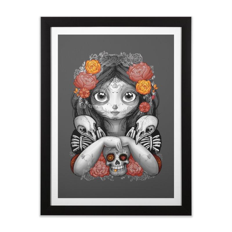 cuervos y amor Home Framed Fine Art Print by valterferrari's Artist Shop