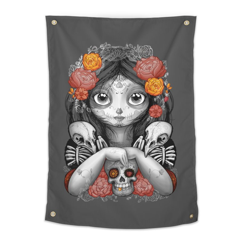 cuervos y amor Home Tapestry by valterferrari's Artist Shop