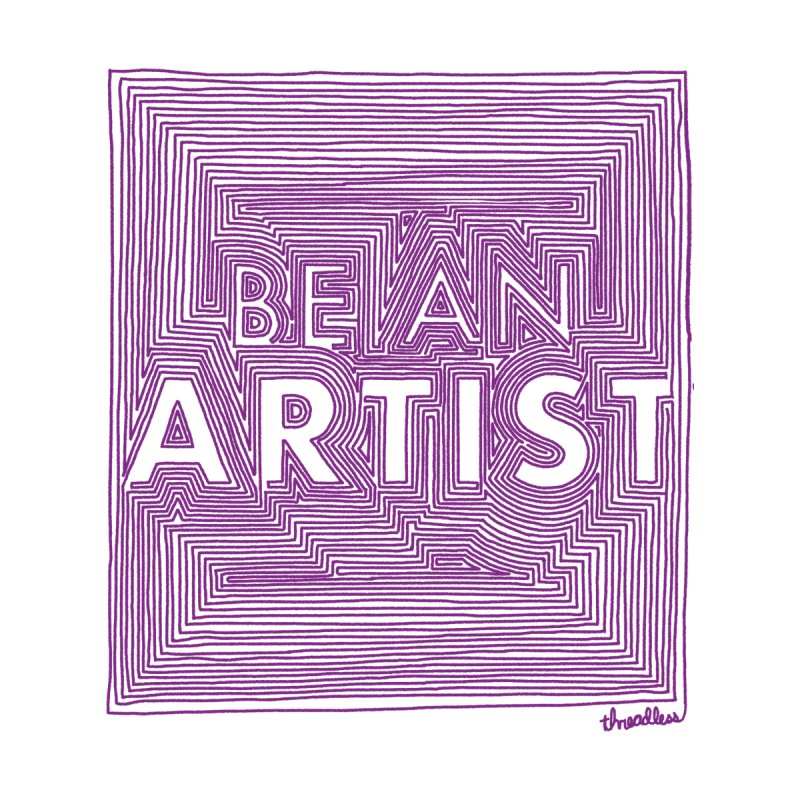 Be An Artist Kids T-Shirt by Threadless Values