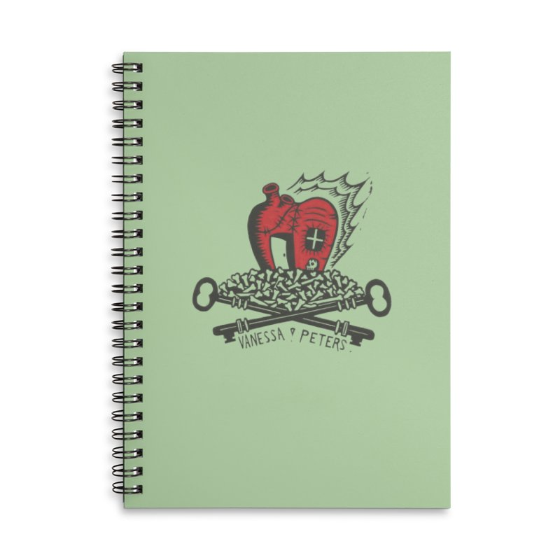 206 Bones Accessories Lined Spiral Notebook by Vanessa Peters's Artist Shop