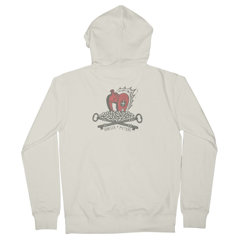 206 Bones Men's French Terry Zip-Up Hoody by Vanessa Peters's Artist Shop