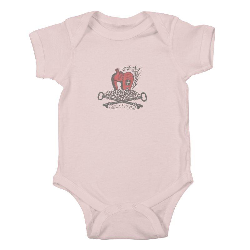 206 Bones Kids Baby Bodysuit by Vanessa Peters's Artist Shop