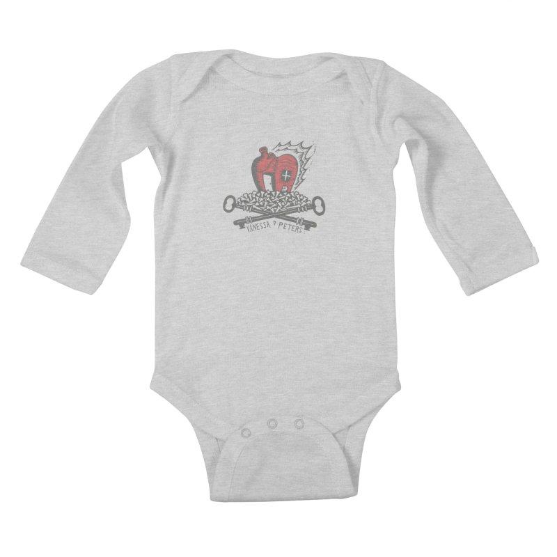 206 Bones Kids Baby Longsleeve Bodysuit by vanessapeters's Artist Shop