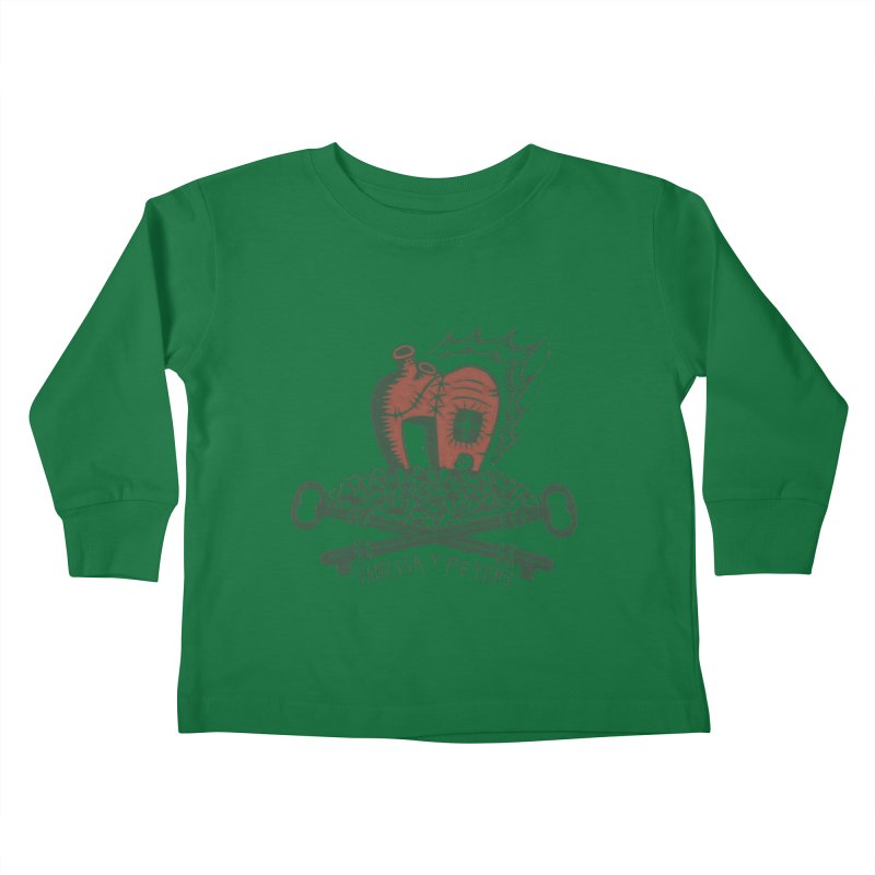 206 Bones Kids Toddler Longsleeve T-Shirt by Vanessa Peters's Artist Shop