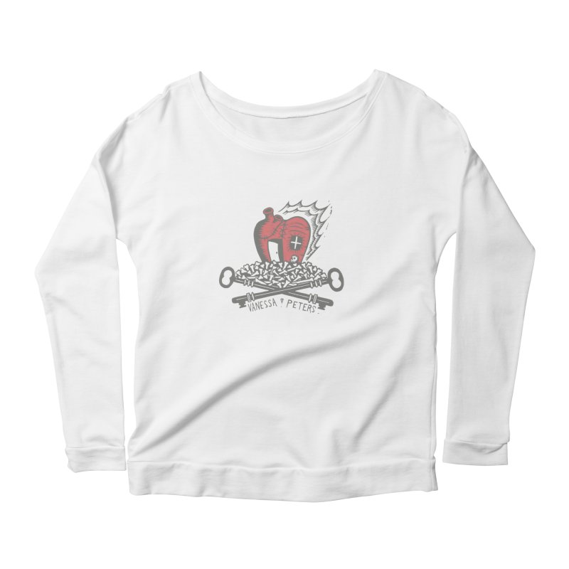 206 Bones Women's Scoop Neck Longsleeve T-Shirt by vanessapeters's Artist Shop