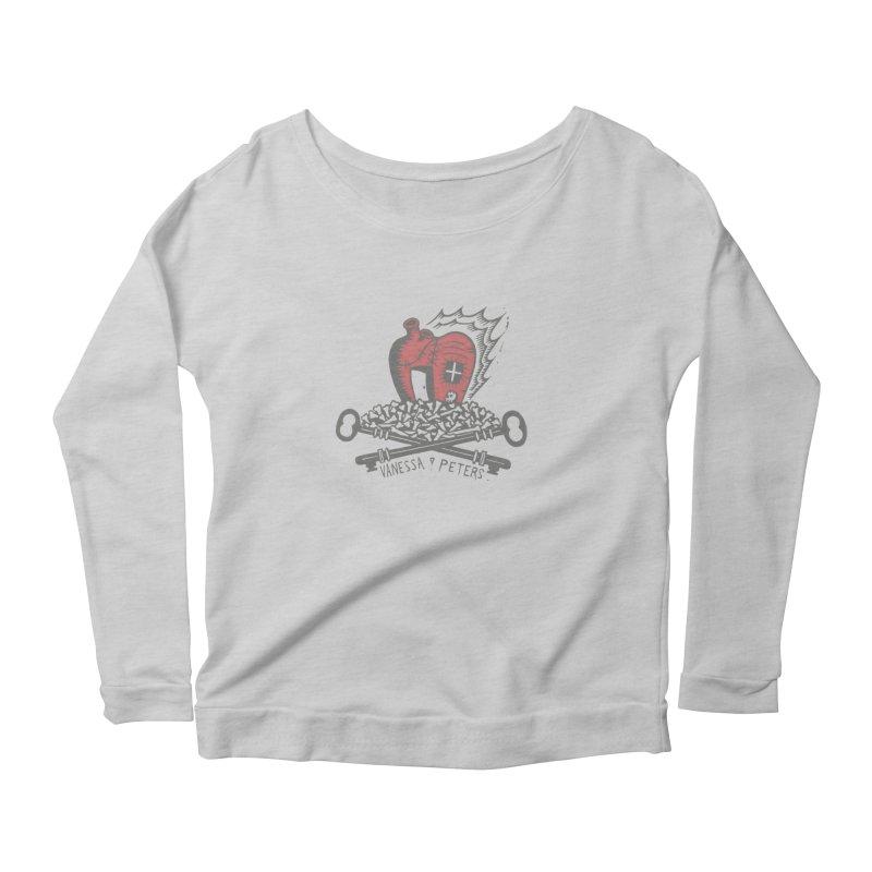 206 Bones Women's Scoop Neck Longsleeve T-Shirt by Vanessa Peters's Artist Shop