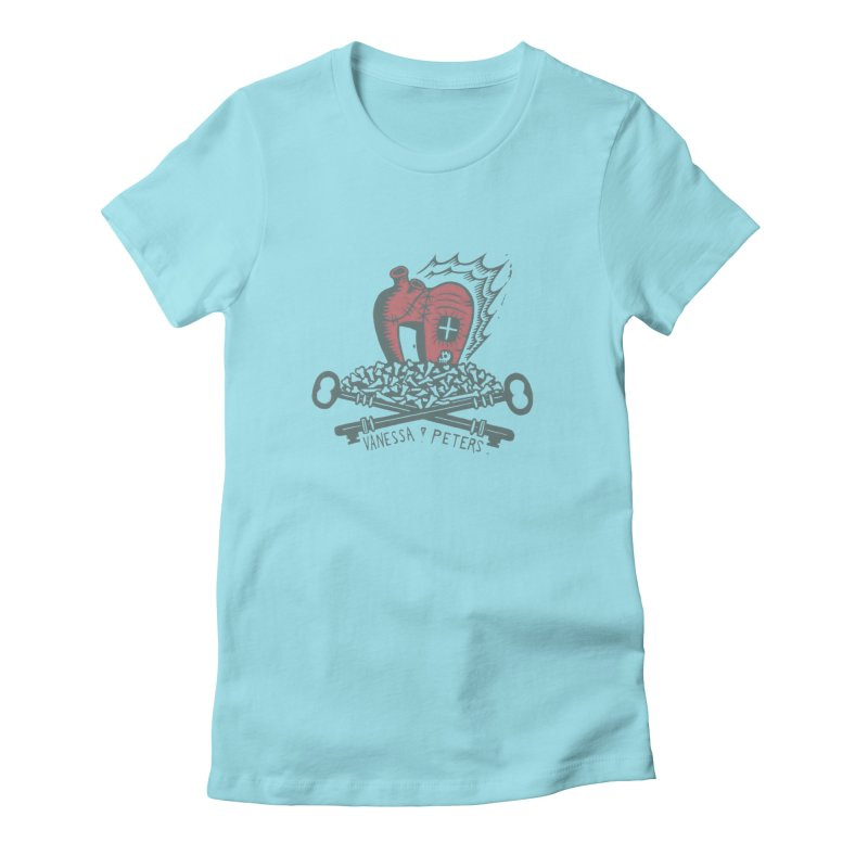 206 Bones Women's Fitted T-Shirt by Vanessa Peters's Artist Shop