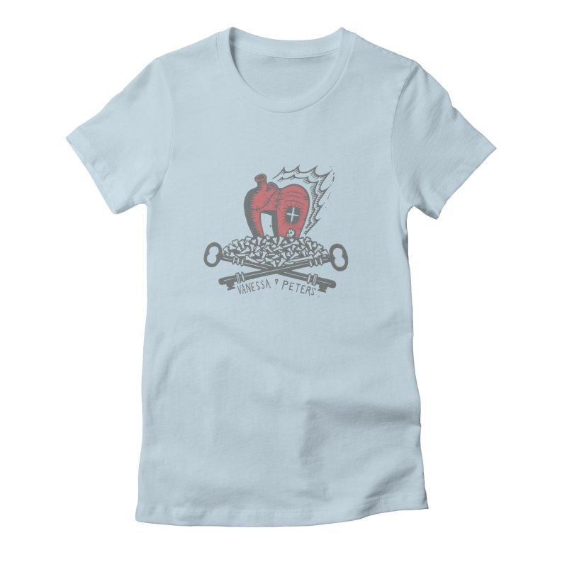 206 Bones Women's Fitted T-Shirt by Vanessa Peters's Artist Shop