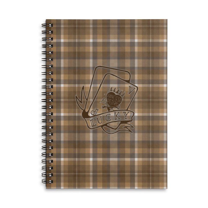 Lucky Cards Accessories Lined Spiral Notebook by Vanessa Peters's Artist Shop