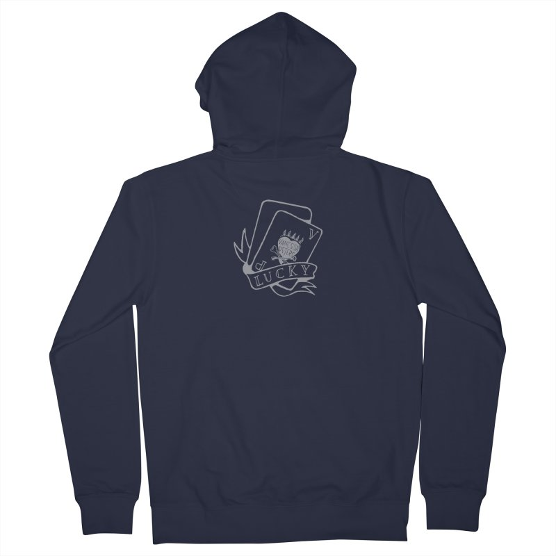 Lucky Cards Men's French Terry Zip-Up Hoody by Vanessa Peters's Artist Shop
