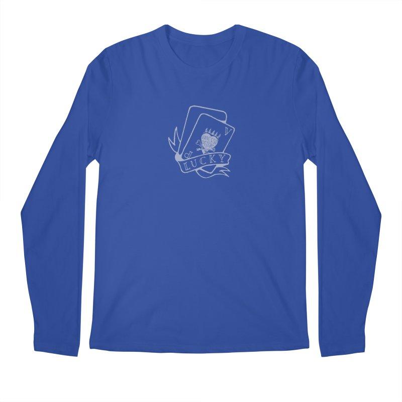 Lucky Cards Men's Regular Longsleeve T-Shirt by Vanessa Peters's Artist Shop