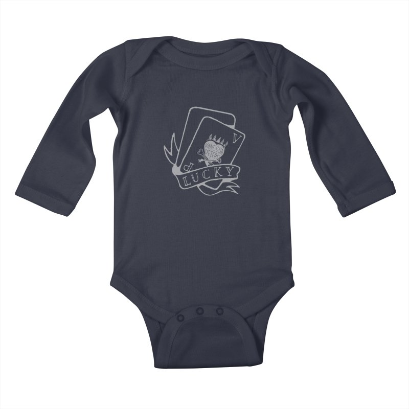 Lucky Cards Kids Baby Longsleeve Bodysuit by Vanessa Peters's Artist Shop
