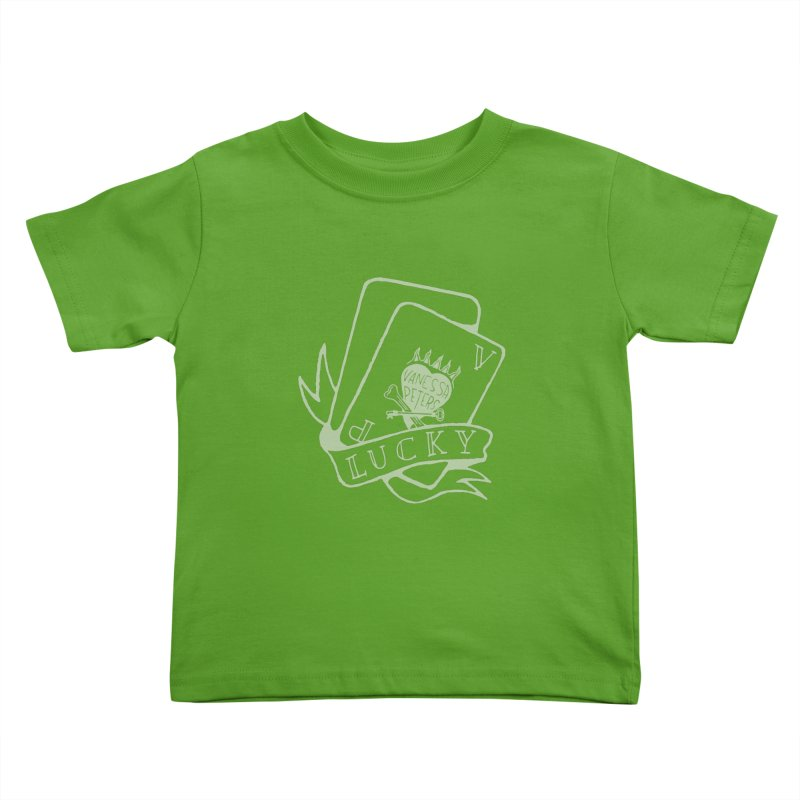 Lucky Cards Kids Toddler T-Shirt by Vanessa Peters's Artist Shop