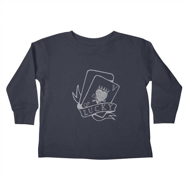 Lucky Cards Kids Toddler Longsleeve T-Shirt by Vanessa Peters's Artist Shop