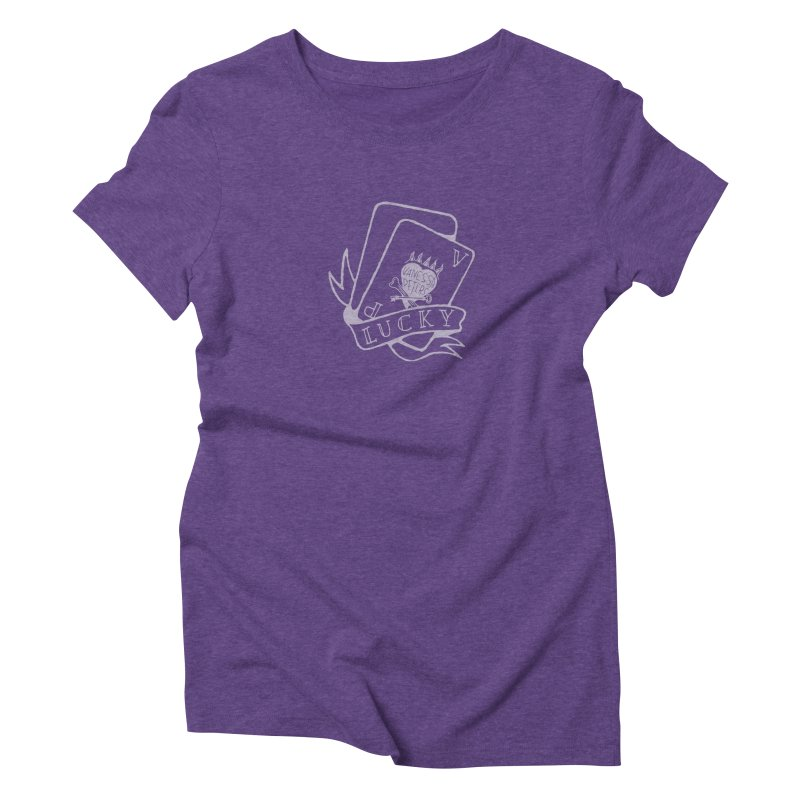 Lucky Cards Women's Triblend T-Shirt by vanessapeters's Artist Shop