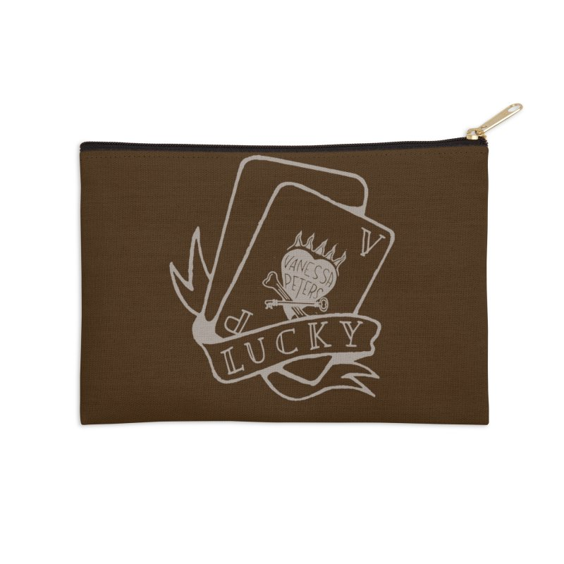 Lucky Cards Accessories Zip Pouch by Vanessa Peters's Artist Shop