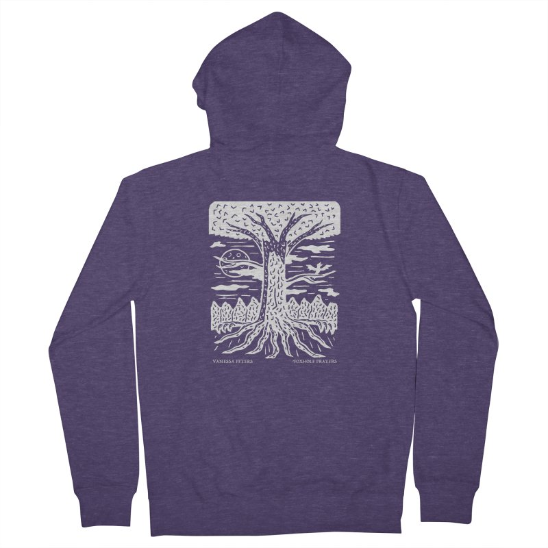 Foxhole Prayers Men's French Terry Zip-Up Hoody by vanessapeters's Artist Shop