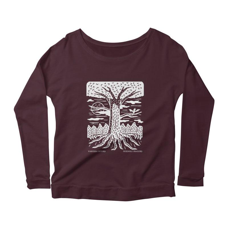 Foxhole Prayers Women's Scoop Neck Longsleeve T-Shirt by Vanessa Peters's Artist Shop