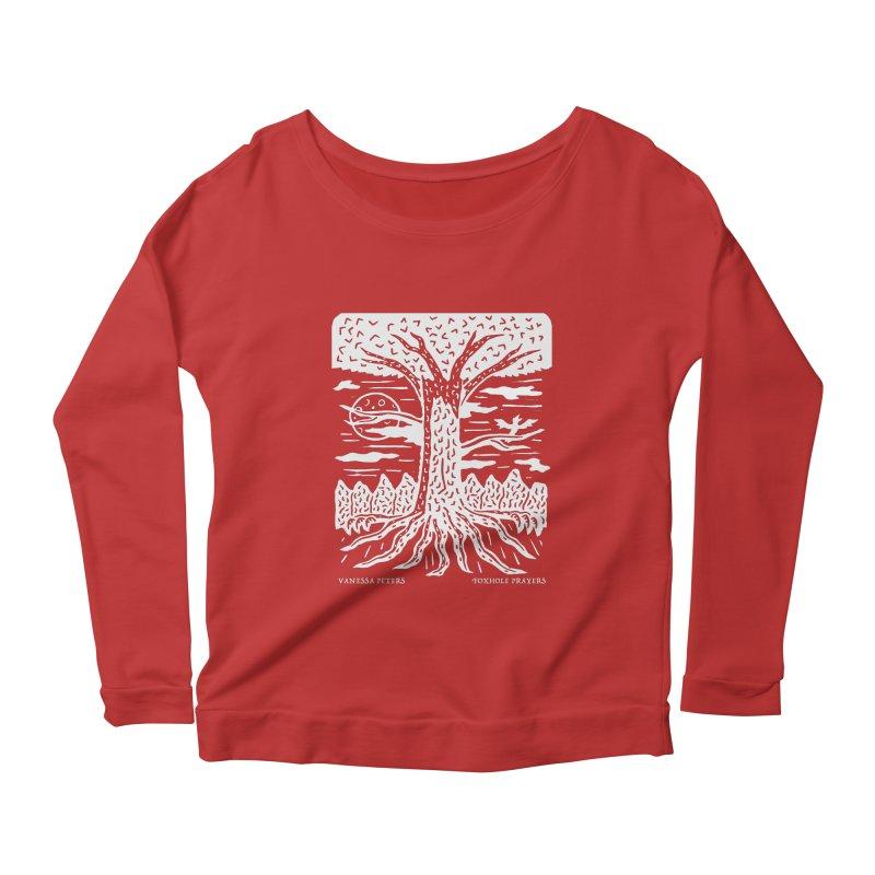 Foxhole Prayers Women's Scoop Neck Longsleeve T-Shirt by vanessapeters's Artist Shop