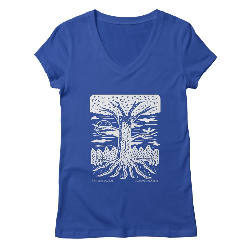Foxhole Prayers Women's V-Neck by Vanessa Peters's Artist Shop