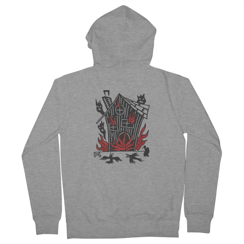 Before it Falls Apart Women's French Terry Zip-Up Hoody by Vanessa Peters's Artist Shop