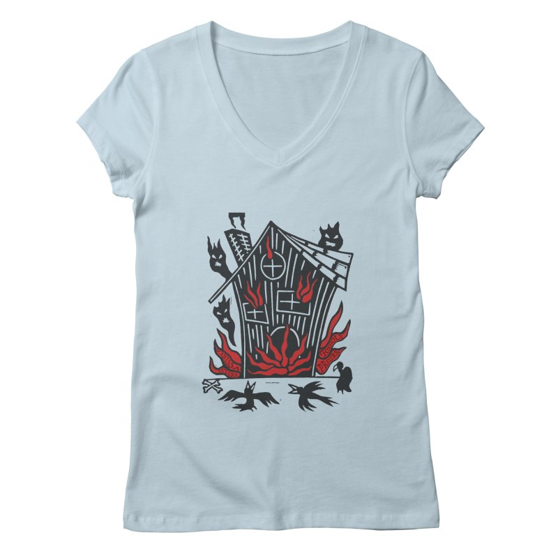 Before it Falls Apart Women's V-Neck by Vanessa Peters's Artist Shop
