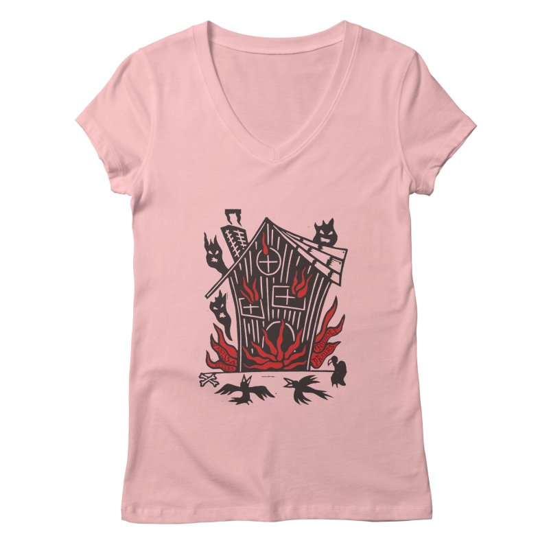 Before it Falls Apart Women's Regular V-Neck by Vanessa Peters's Artist Shop
