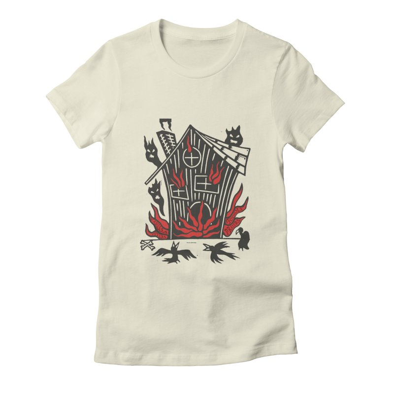 Before it Falls Apart Women's Fitted T-Shirt by Vanessa Peters's Artist Shop