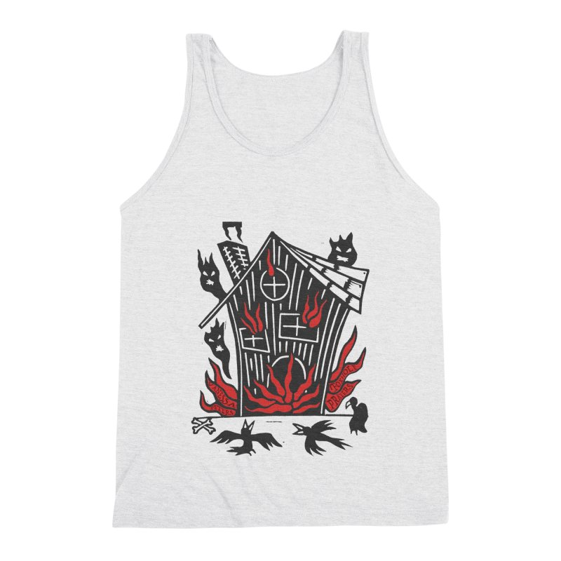 Before it Falls Apart Men's Triblend Tank by Vanessa Peters's Artist Shop