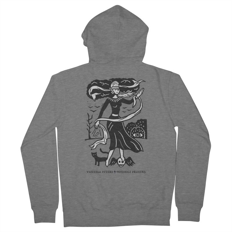 Lady Luck Men's French Terry Zip-Up Hoody by Vanessa Peters's Artist Shop
