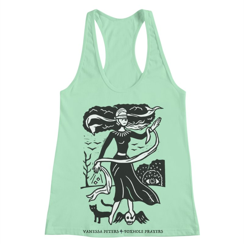 Lady Luck Women's Racerback Tank by Vanessa Peters's Artist Shop