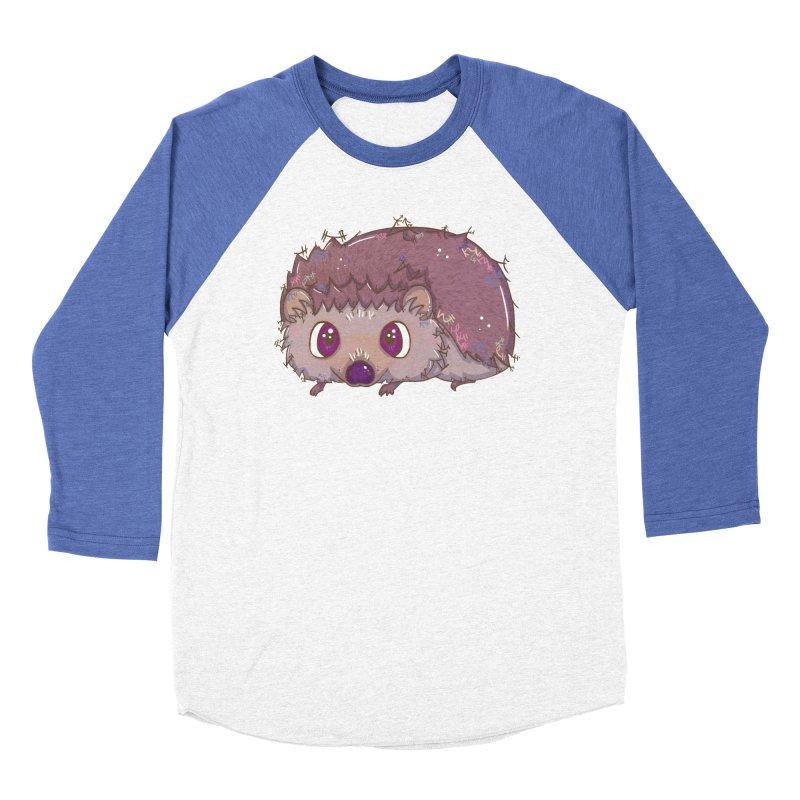 Happiest Little Hedgehog Women's Baseball Triblend T-Shirt by VanillaKirsty's Artist Shop