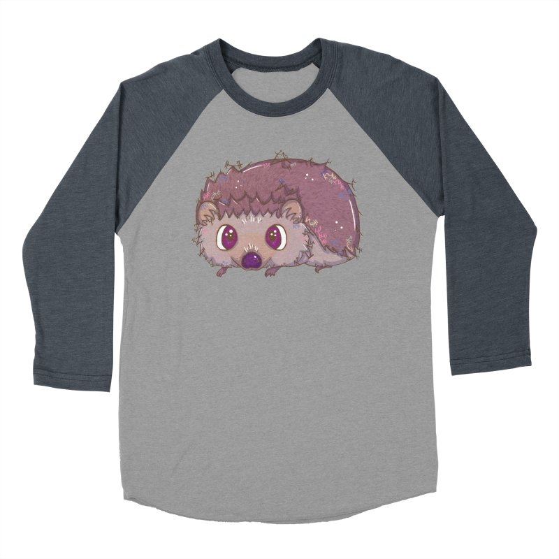 Happiest Little Hedgehog Men's Baseball Triblend T-Shirt by VanillaKirsty's Artist Shop