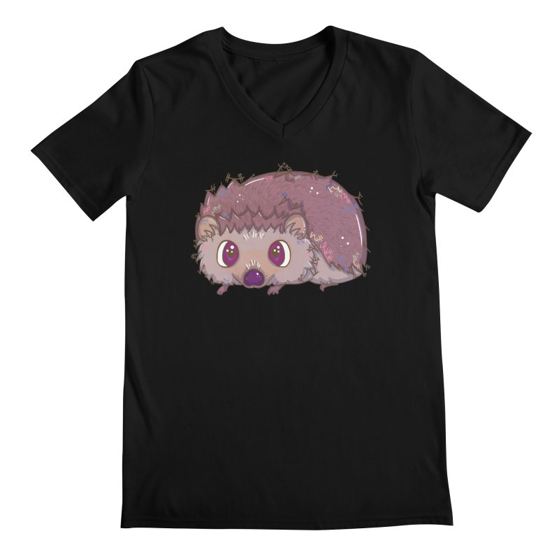 Happiest Little Hedgehog Men's V-Neck by VanillaKirsty's Artist Shop