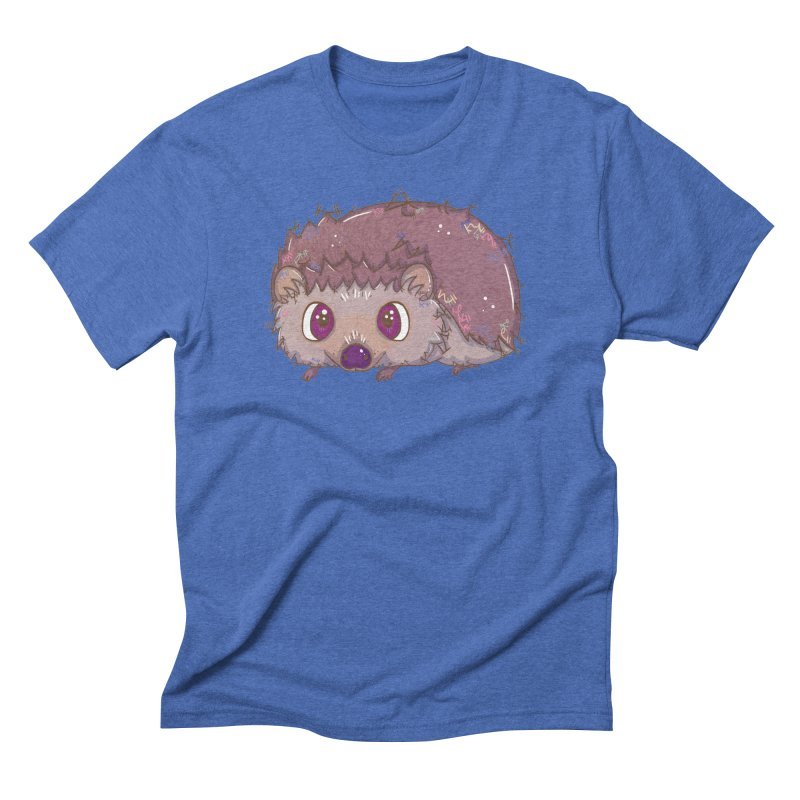 Happiest Little Hedgehog Men's Triblend T-shirt by VanillaKirsty's Artist Shop