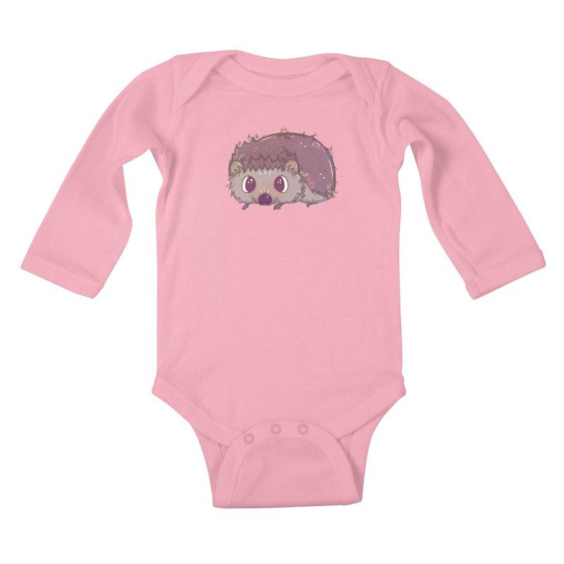 Happiest Little Hedgehog Kids Baby Longsleeve Bodysuit by VanillaKirsty's Artist Shop