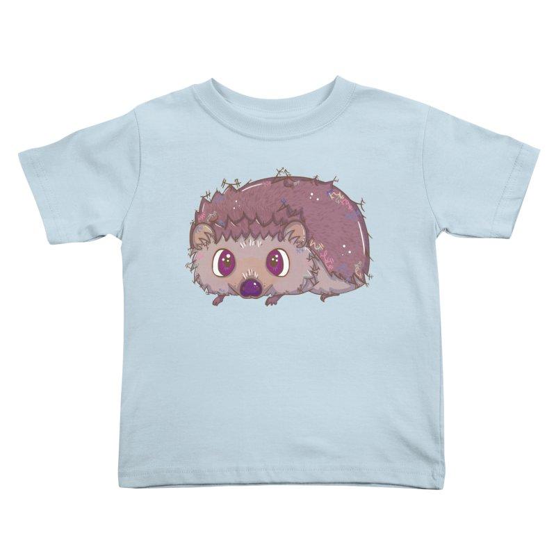 Happiest Little Hedgehog Kids Toddler T-Shirt by VanillaKirsty's Artist Shop