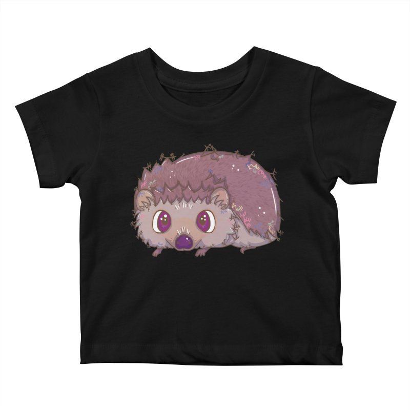 Happiest Little Hedgehog Kids Baby T-Shirt by VanillaKirsty's Artist Shop
