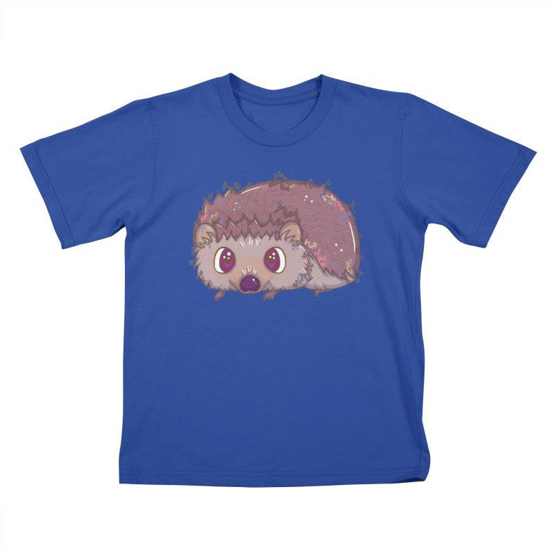 Happiest Little Hedgehog Kids T-shirt by VanillaKirsty's Artist Shop