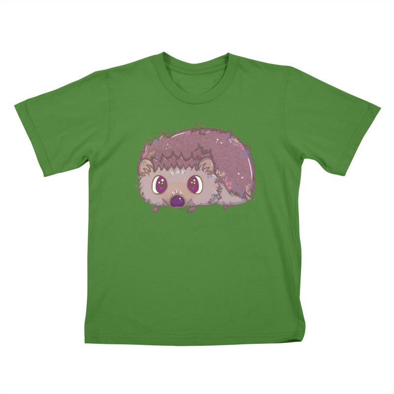 Happiest Little Hedgehog Kids T-shirt by VanillaKirsty's Artist Shop