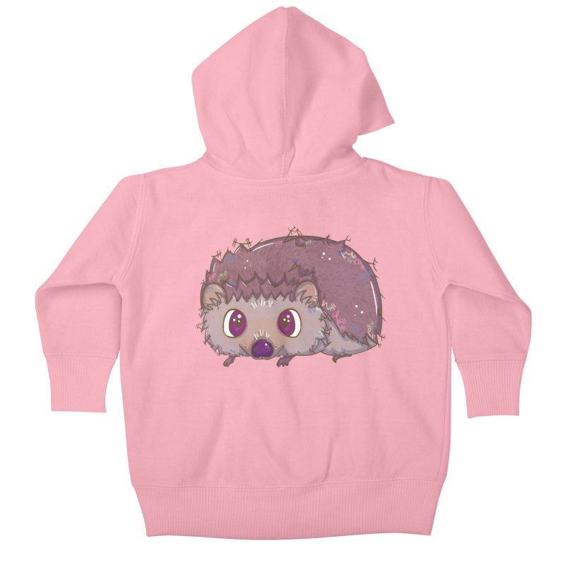 Happiest Little Hedgehog Kids Baby Zip-Up Hoody by VanillaKirsty's Artist Shop
