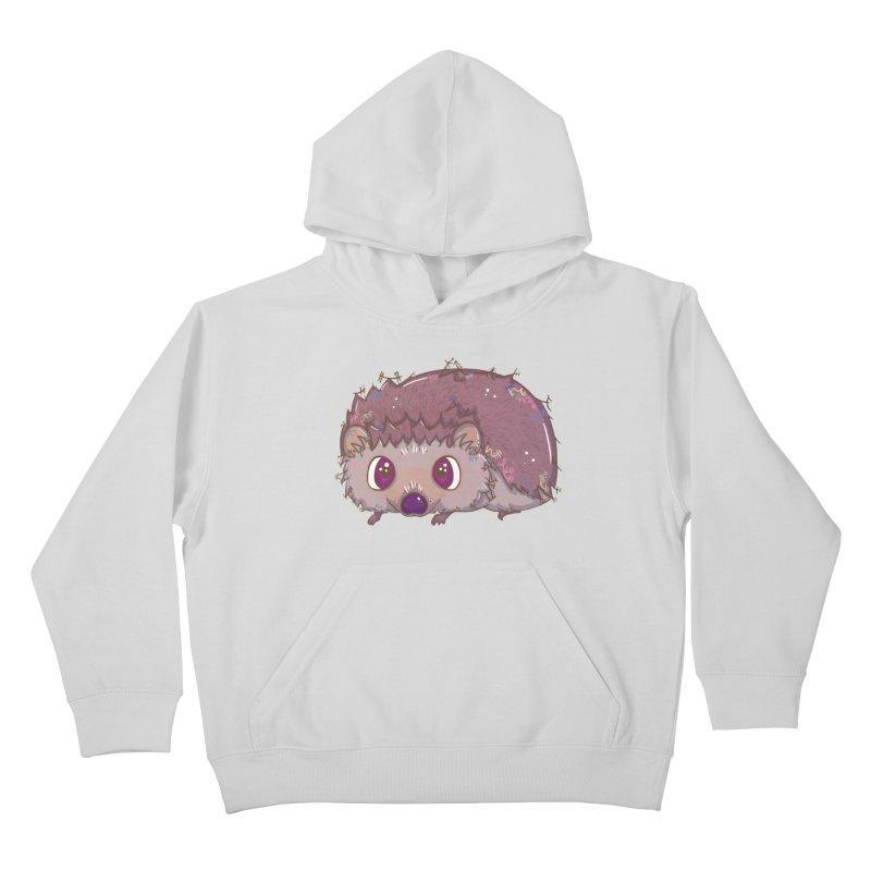 Happiest Little Hedgehog Kids Pullover Hoody by VanillaKirsty's Artist Shop